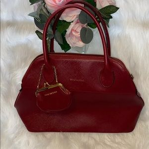 Gently used Isaac Mizrahi red leather purse